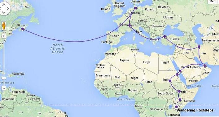 Our 2015 travel plan in a nutshell.