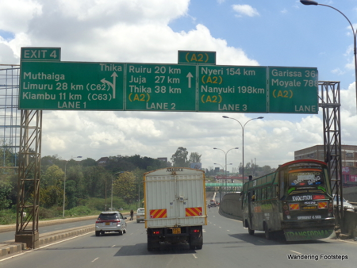 Leaving Nairobi, heading to Moyale, 788km north.