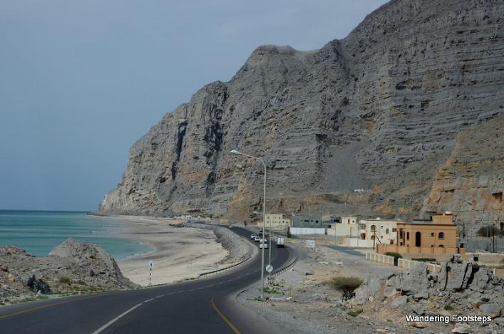 The coastal road to Khasab, a feat of engineering.