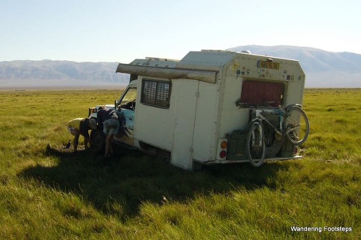 Driving in Mongolia wasn