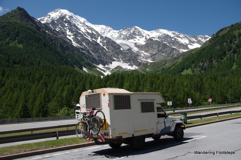 Driving up Col de Simplon into Switzerland
