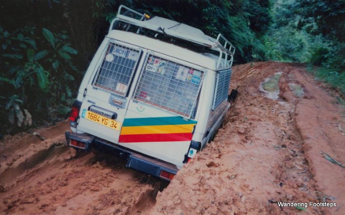 Oh crap, stuck in the mud again...