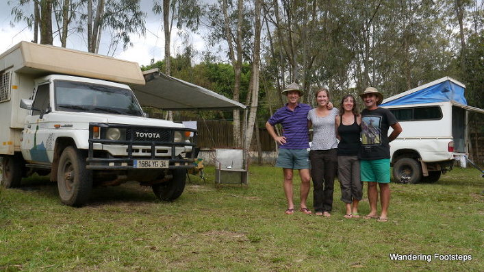 Bruno and I with fellow overlanders, Josu and Ana.