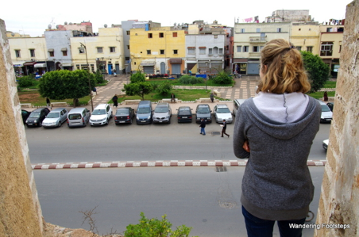 In Morocco!!  Gazing down at El Jadida from its old Portuguese ramparts.