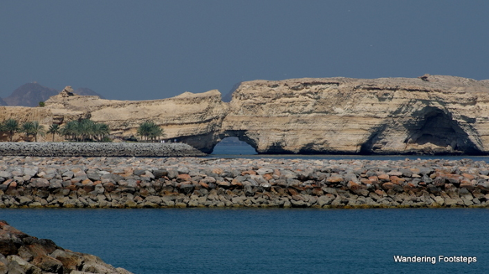 Hole in a rocky outcrop along Oman