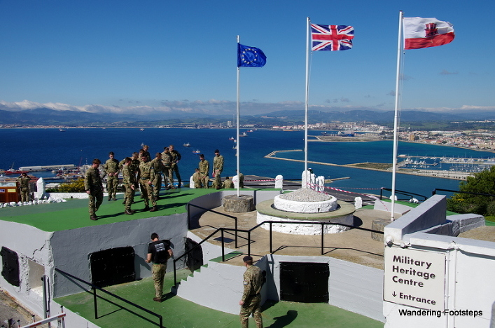 Gibraltar has a big military presence, but it