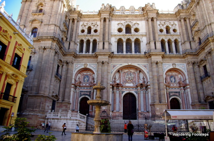The beautiful cathedral of Málaga.