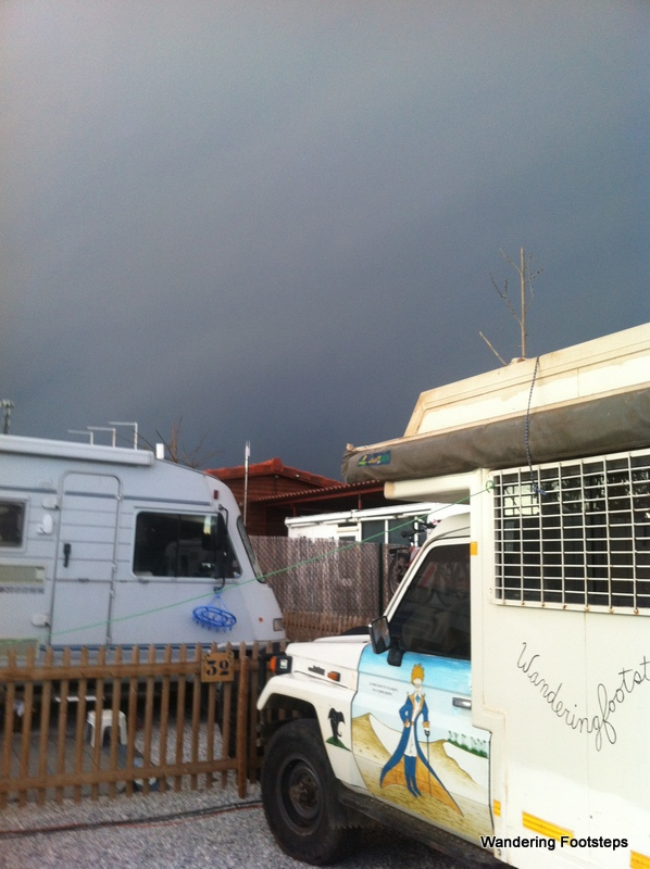 Check out that storm (and the proximity of the next camper van)!