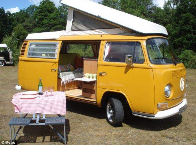 A VW van (which, interesting, is exactly what I dreamed of having when I was 17).