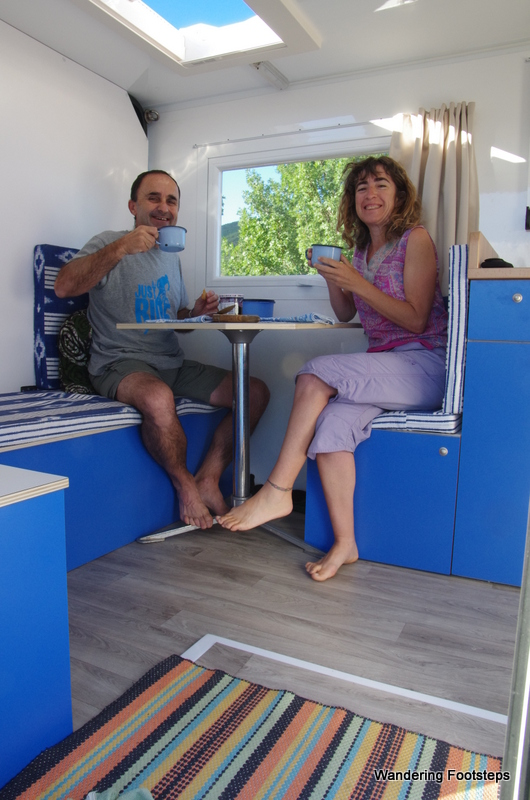 Josu and Ana spent 9 months building a new, bigger cell for the back of their own Toyota.  Nice!