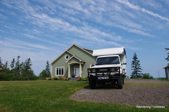 Totoyaya, our beloved camper van, is parked at my parents