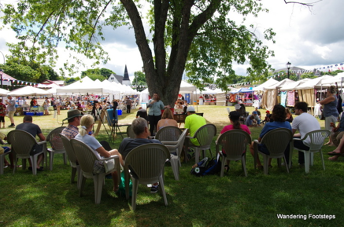 Under the Talking Tree at the Shediac Market.