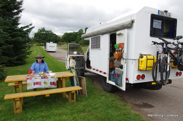 Our first picnic on the road again.