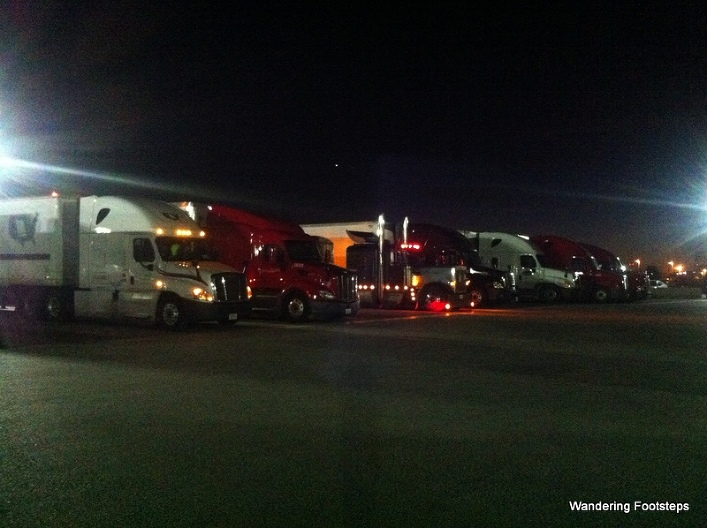 The row of truck drivers I had to walk past to get to the travel center