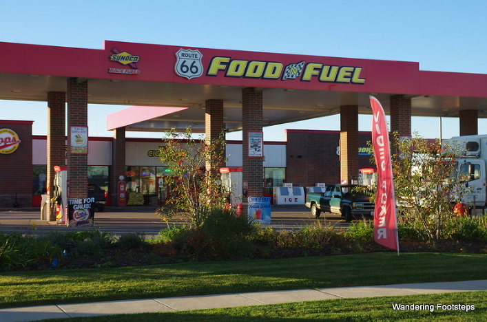 Is my journey down Route 66, which starts at this Food and Fuel stop, coming at exactly the right time?