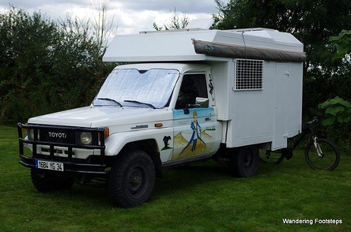 Totoyaya, our 1988 Toyota Land Cruiser BJ75 with custom camper box.