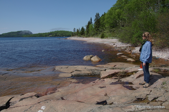 The scent of fresh pines along Lake Superior in Northern Ontario.